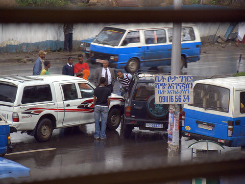 Accidente en Asmara Road (Addis Abeba)
