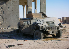 That'll Buff Right Out (Patrick the Smith) Tags: usmc marine war desert destruction iraq brokenglass explosion craters armor impact marines combat shattered humvee hmmwv armored destroyed marinecorps bulletholes fallujah shrapnel suicidebomber punctured vbied turtlewax shotup overblast fallujahiraq grapeshot svbied blastpressure ballisticglass transparentarmor
