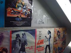 iphone photo 135: Backstairs wall to used music & video shop. Shinjuku Tokyo, Dec 2009