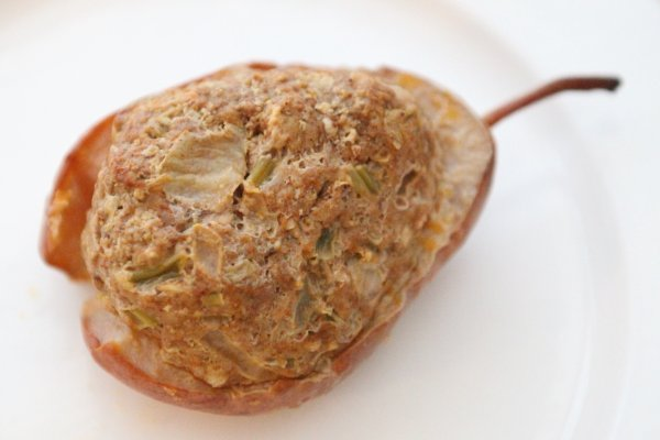 sausage-stuffed pear