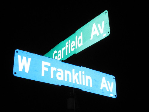Garfield Ave S at Franklin Ave W