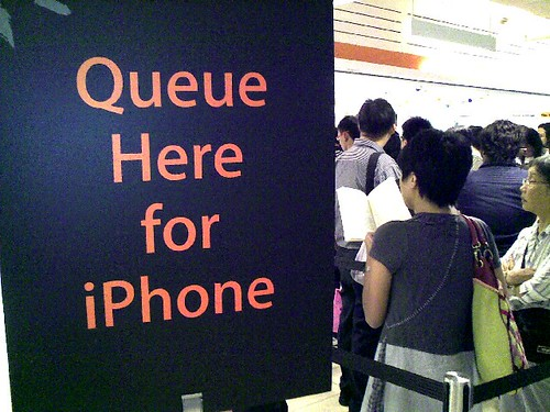 Waiting for my iPhone