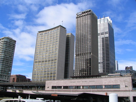and the highrises