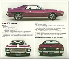 Javelin and AMX 1974 (Hugo90) Tags: auto ads advertising 1974 amc amx javelin americanmotors