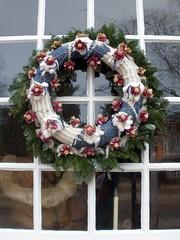 Cotton Christmas Wreath