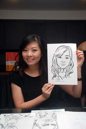 Caricature live sketching for Johnson & Johnson - 16