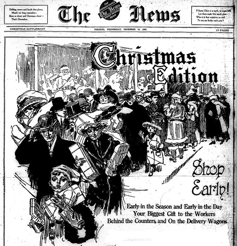 Portion of Front Page of the Christmas Edition of The News (Toronto), December 15, 1909