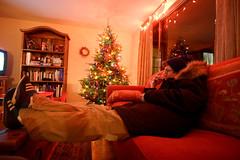 _MG_5890-131 (k.a. gilbert) Tags: glass night dinner tv wine daniel coat drinking christmastree livingroom couch alcohol handheld 116 lightroom uwa tokina1116mmf28