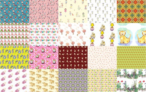 cartoon-themed fabric of the week - VOTE