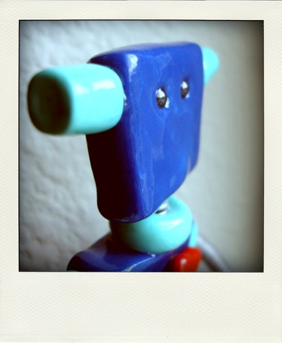 Robot Sculpture - Preview of Teal Thin Re-vamped Bot
