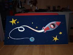viaggio nello spazio (MssSushi) Tags: viaggio spazio illustrazione acrilici
