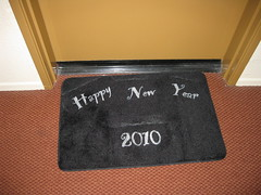 New Years Door Mat