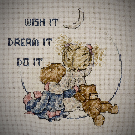 cross stitch moon kids