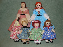 All the new dolls together (grannyinak) Tags: clothdolls vintagepattern vintagedollpattern vintageclothdolls edithflackackleydolls efadolls