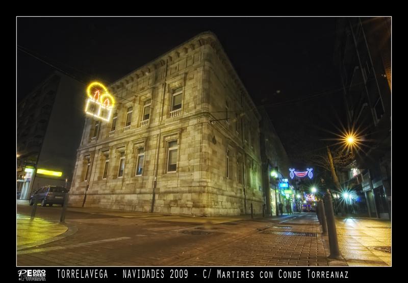 Torrelavega - Biblioteca (Palacio Condes de Torreanaz - Navidades 2009