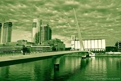El puente de la mujer. (Lumley_) Tags: water argentina rio america puerto puente mujer agua nikon buenos aires tango cielo calatrava nubes vicente madero 1855mm lumley 2009 rubio d60
