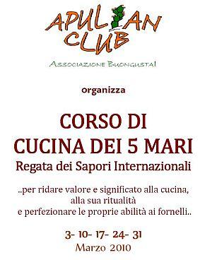 corso di cucina dei 5 mari regata dei sapori internazionali dellapulianclub a monopoli bari