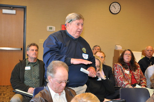 Carthel Crout, Mayor of Williamston, South Carolina, came the Job Forum in Greenville with hopes of improving the water and sewer system in his town.