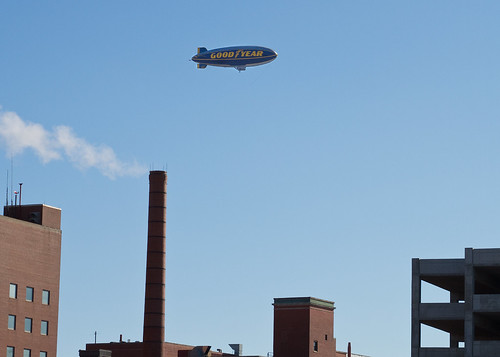 Blimp Over City Hospital