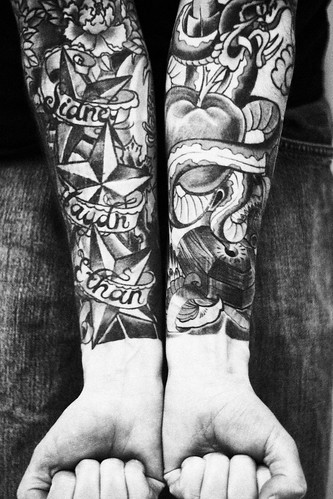 Posted by vic | Filed under Half Sleeve Tattoo · Full sleeve tattoos stars