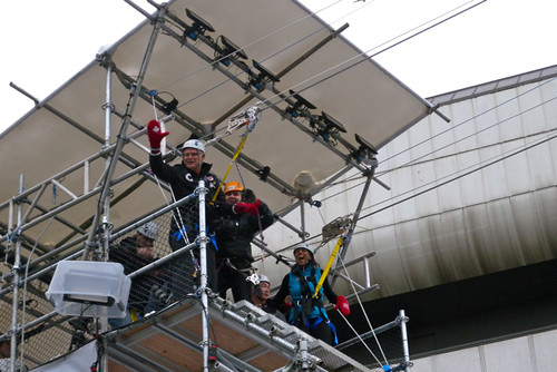 Gordon Campbell on the Olympic Zipline Downtown