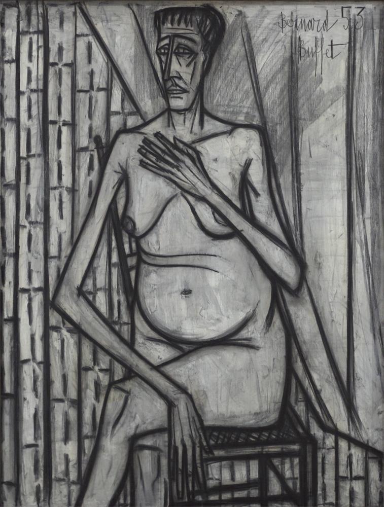 Bernard Buffet, Nude, 1953