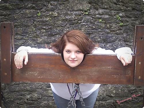 Ashley in the Stocks