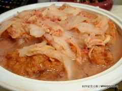 20100217 初四家常小聚-08 紅糟鰻魚繪白菜