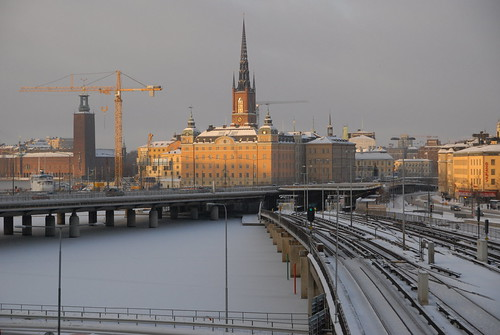 stockholms city in the winter
