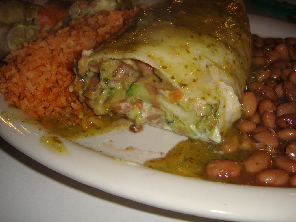 Vegetarian Burrito - inside cut