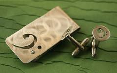 Bass Clef set (sudlowjewelry) Tags: pierced music bass note custom cufflink moneyclip