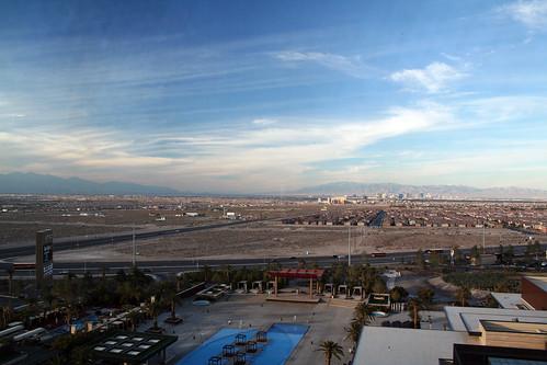 M Resort Room - View, Looking at Strip