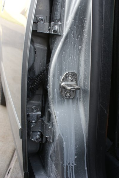 car door jamb. Interesting Car Degreaser Sprayed In Door Jamb In Car Door Jamb A