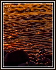 Ripples in the Sand (Charlie Little) Tags: sunset shadow sun beach silhouette digital photography coast sand rocks colours seascapes eveningsun shoreline sunsets olympus cumbria ripples picnik greatphotographers e420 solwaycoast wwwcharlielittlephotographycouk