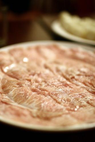 聽說是松版豬肉