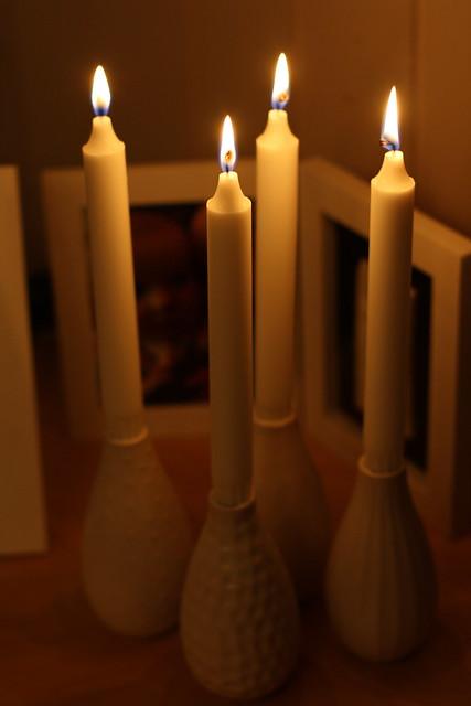 Lys i Ikea-vaser