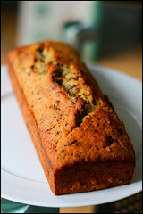 crack (aloalo*) Tags: food baking sweet chocolate banana crack homemade bananabread flaxseed