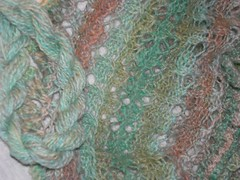 Moebius scarf - stitch and yarn detail