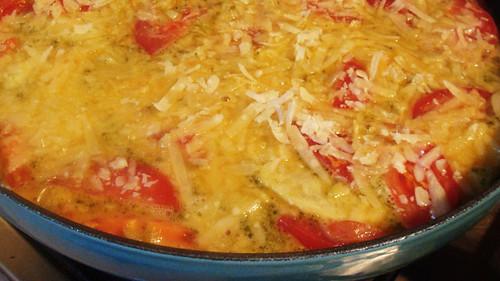 Fritatta cooking