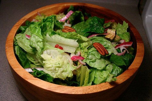 3 P salad - pecan, pomegranate, and pickled purple onion