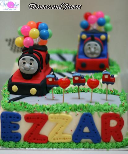 Cake Number 2 – Thomas and James | Varrickmom's Weblog