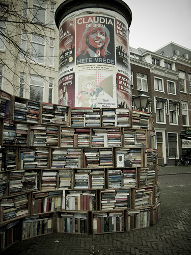 Used book market recycling outdoor Netherlands books