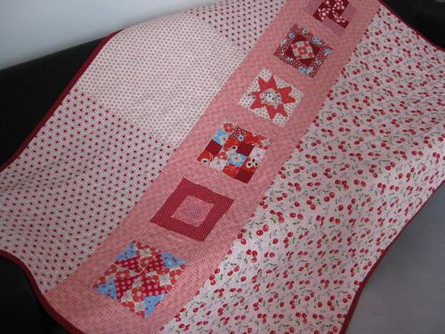gramas garden quilt, backing