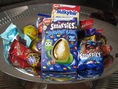 Easter eggs (georgiarae) Tags: easter chocolate smarties eggs cadburys dairymilk cremeegg milkybar