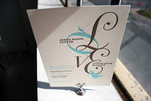 Best Letterpress Wedding Invitations: Your Best Wedding: Lovebirds Letterpress Wedding Invitations