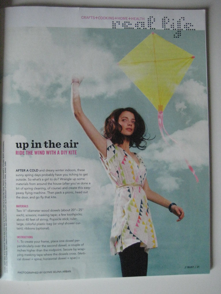 BUST April/May 2010 - Go Fly a Kite DIY Tutorial
