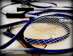 Rackets (TeganRae) Tags: blue sports tennis rackets