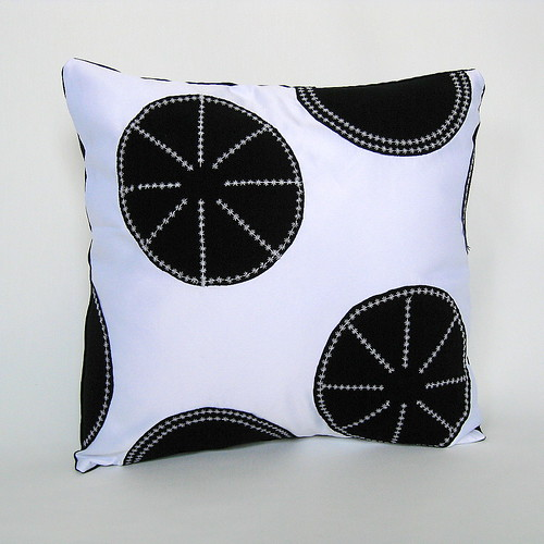 White and Black Polka Dots Pillow Cover