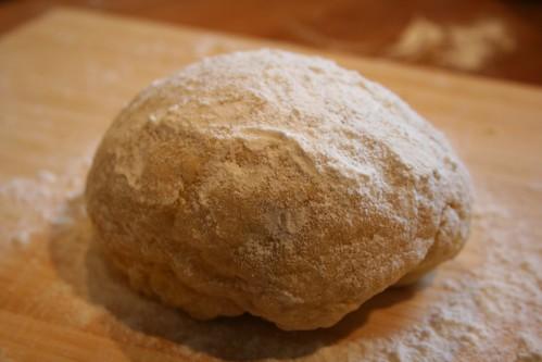 Pasta dough, resting (shhh...)