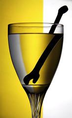 Do not think you are strong (Azaga ) Tags: light stilllife white black home glass yellow canon key iron do quiet you think strong ibrahim libya screwdriver weak    sabha              azaga   theideaof
